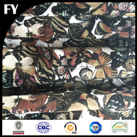 Digital print custom cotton 3D voile fabric for garments