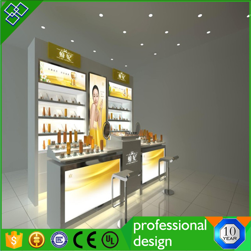 Shopping Mall Cosmetic Store Design Make Up Product Stand Cosmetic Kiosk