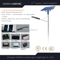 solar 20w led street light with pole price