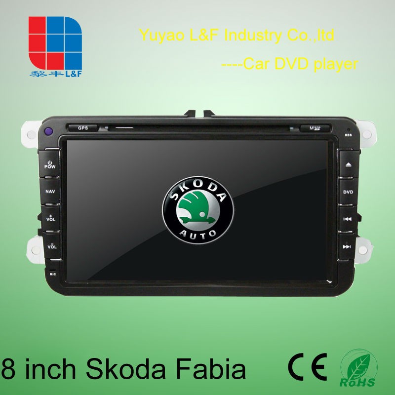 8 inch car gps for skoda with 3D Rotating UI PIP GPS BT TV IPOD RADIO 3G WIFI