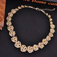 Gold Diamond Plating Baseball Choker Necklace For Sell