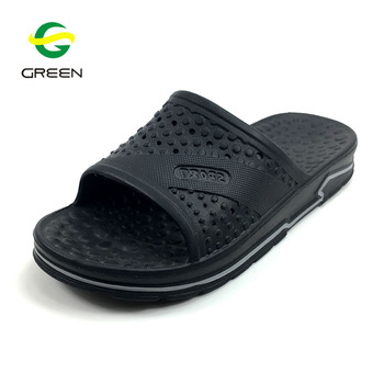 2017 Popular style men's beach shoes slides plastic sandals
