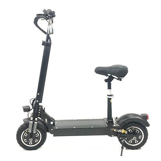 fat tire electric scooter with seat for adults 2400W 52V electric kick scooter