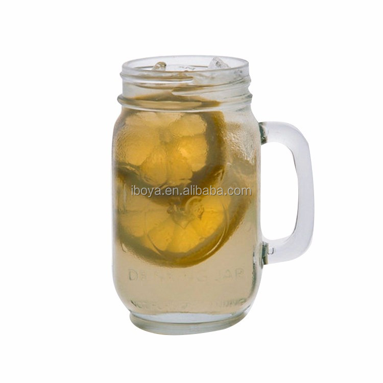 Tin Lid 16Oz Drinking Wholesale Frosted Glass Jar With Screw Lid