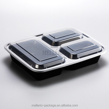 disposable 3 compartment plastic food container,take away bento box