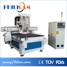 panel furniture cutting and drilling holes machine wood cnc router with HSD spindle