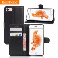 New arrivals 2017 Flip Card Holder for iphone 7 plus case 2016 leather