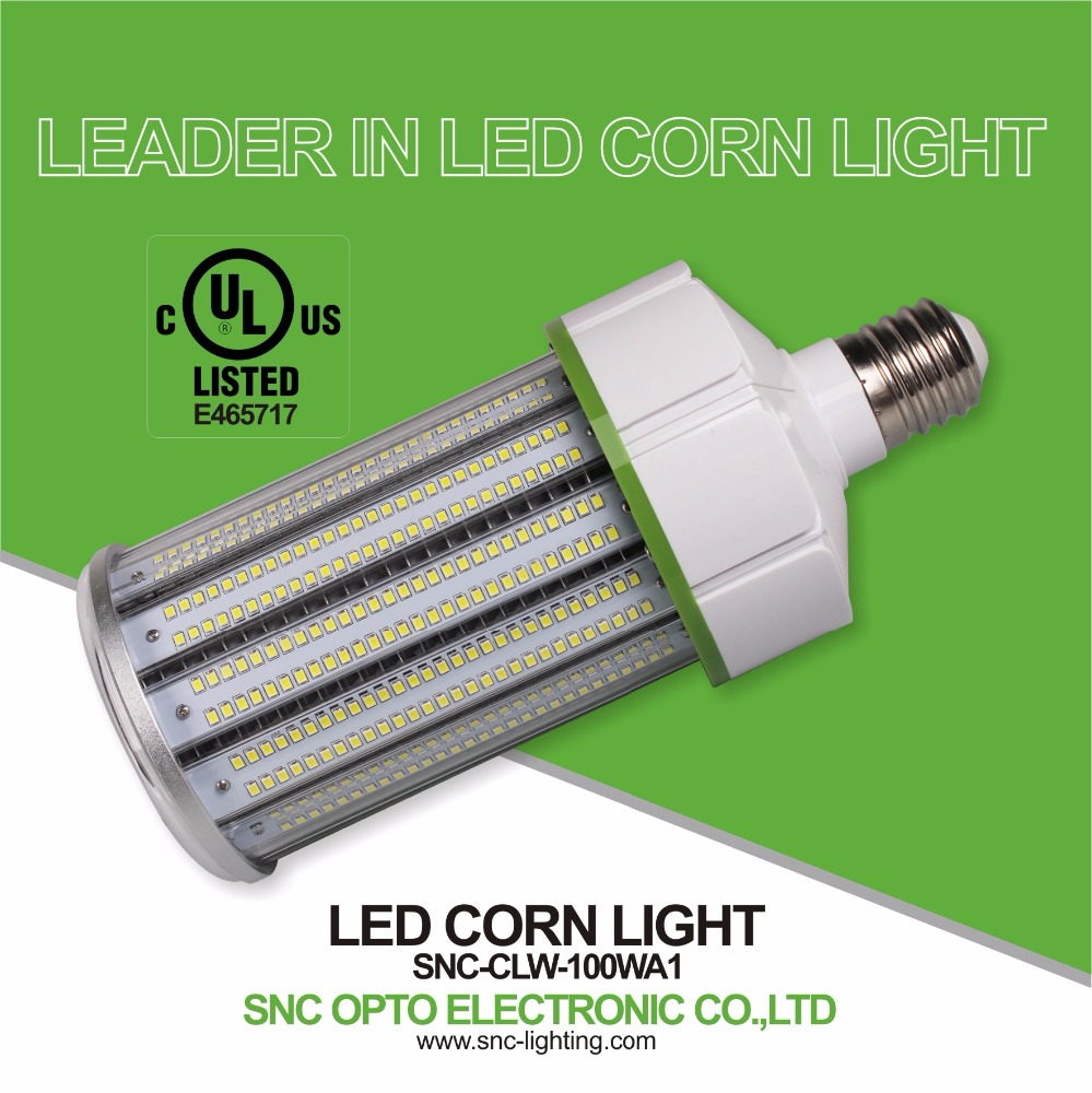 100W LED corn light IP64 waterproof rating 100-277VAC 5 years warranty with UL cUL certificate best selling led lights