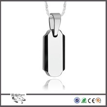 Men Stainless Steel Pendant Ball Bead Chain Necklace Blank Charms