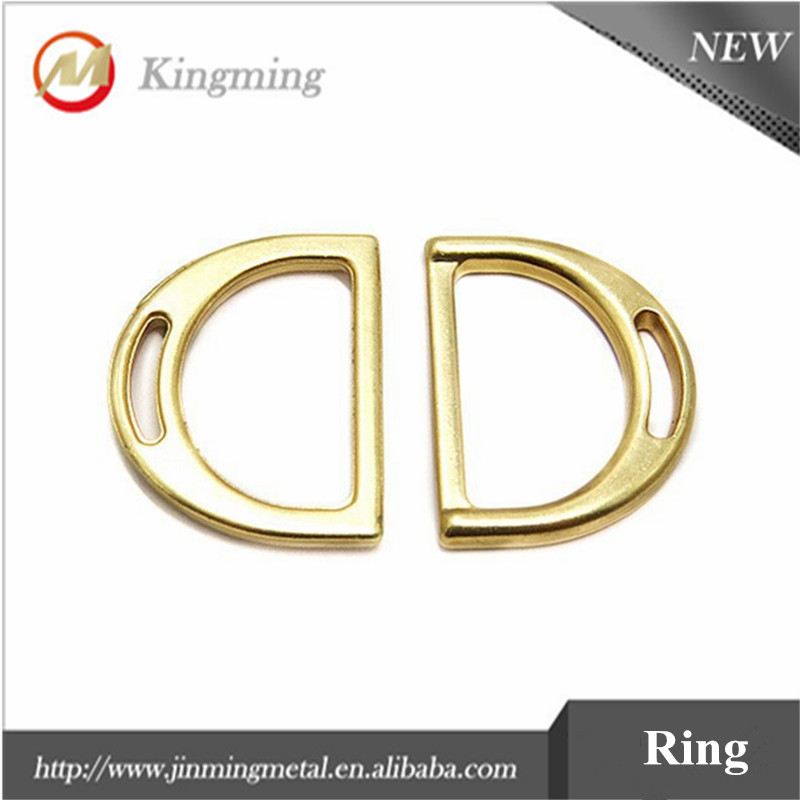 22mm Solid Zinc Metal Welded Dee Ring For Bags