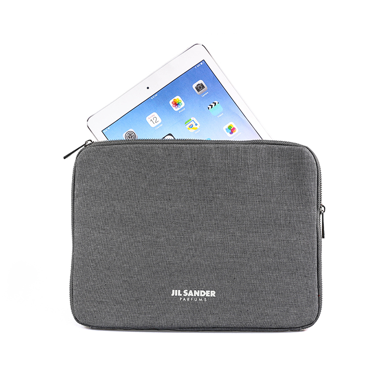 Factory direct wholesale durable jute gray tablet PC case for iPad