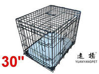 Deluxe black portable Puppy Dog cage with bedding