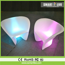 Remote control illumilated LED bar sofa/color changing led party chair furniture