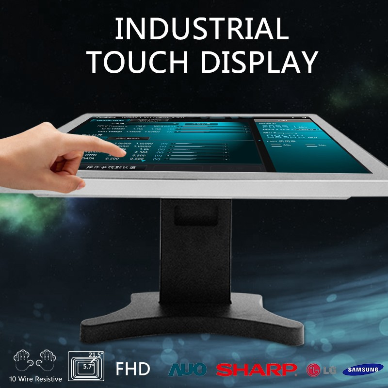 15 Inch Rackmount led tv 4k Industrial Touch Screen Monitor(CE,FCC,ROHS)