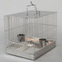 stainless steel Bird bath cage Portable parrot cage C11