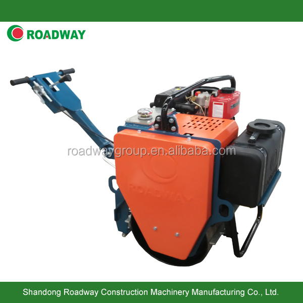 Roadway single drum small roller