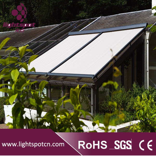 Electric conservatory sunshade awning