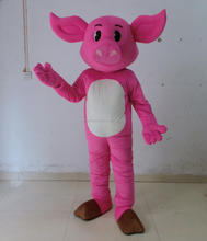 plush adult pig mascot costume lovely animal pink pig costume
