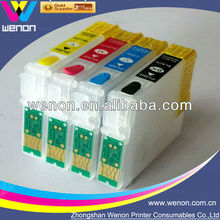 refillable cartridge for printer Epson SX130 4 color ink cartridge