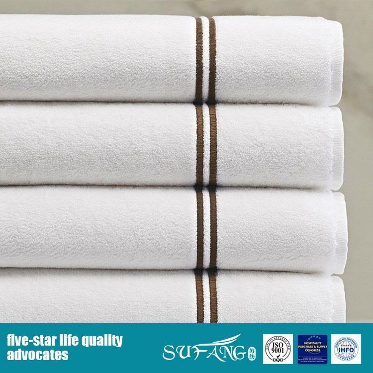 Wholesale cheap towel set microfiber towel with piping