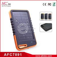 wholesale abs outdoor waterproof 4000 mah high capacity solar power bank