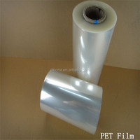 Trasparent roll clear PET release Film for packing and printing