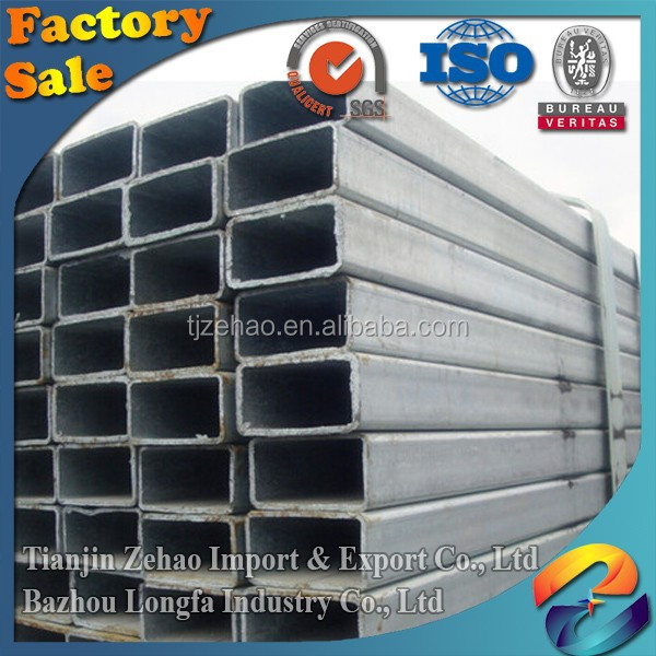 Schedule 20 thermal conductivity construction material Galvanized rectangular Steel tube