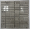 Polished Gray Strip Kitchen Backsplash Wall Marble Mosiac Tile Home Depot