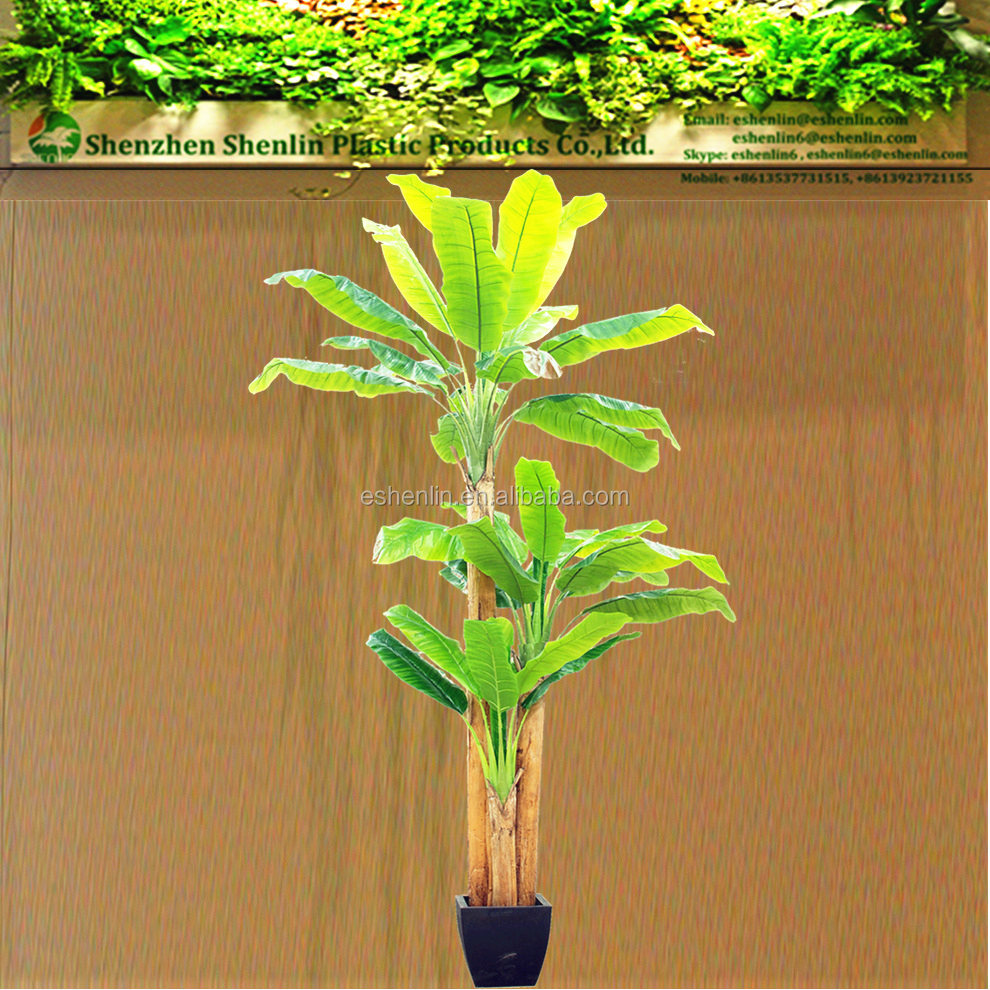 tropical pond fake office decorative the house floor pot banana plants