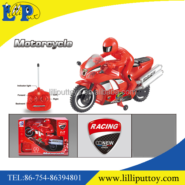 High quality R/C 4 channel racing motorcycle toy
