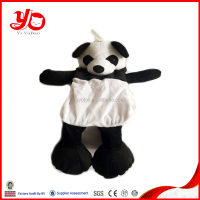 Wholesale panda plush toy skins unstuffed plush panda skins