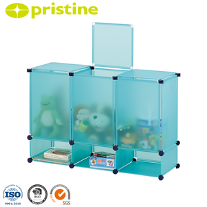 kids furniture pp modern metal plastic cube toy plastic storage bins