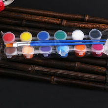 6pcs 3ml - Acrylic <strong>Paint</strong> Set-12/6 colors- with brush-for children, school, office