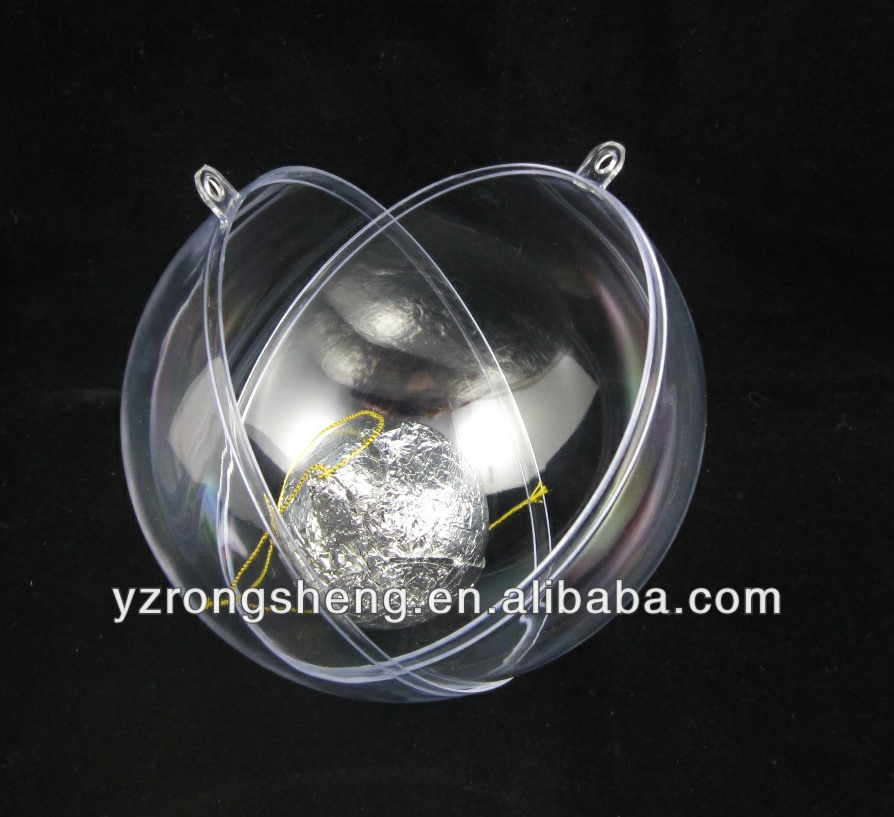 plastic transparent ball clear christmas transparent plastic ball