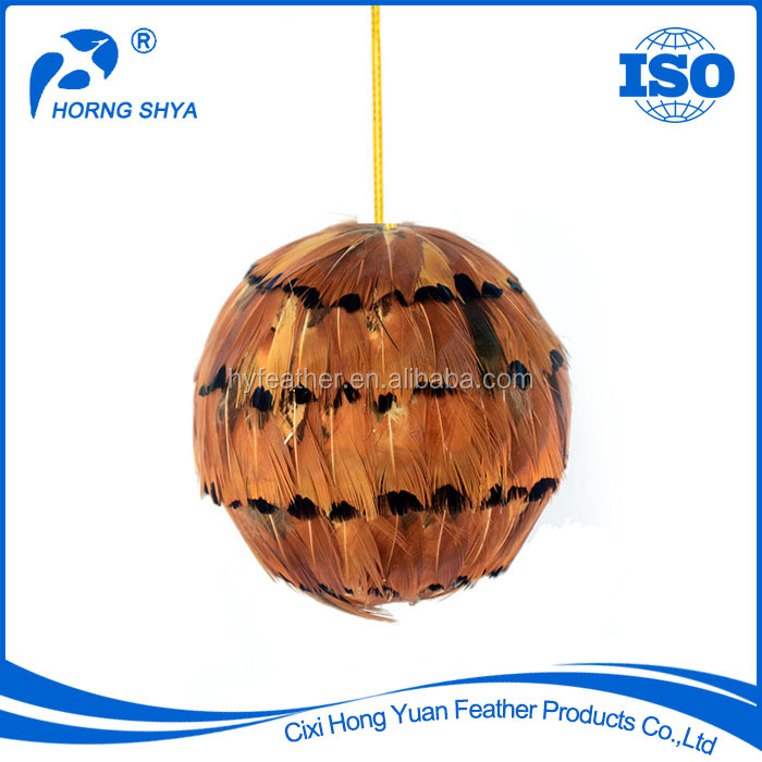 Manufacturer FA-33 Ringneck Natural Feather Hanger Ornament Decorate Christmas Ball Ornaments