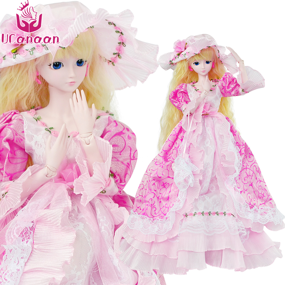 UCanaan 1 3 Large BJD SD Doll 60CM 19 Ball Jointed Dolls With Outfits Shoes 039d8bc8eadc