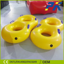 Custom Yellow Color 8 Shape PVC Inflatable Swimming Ring For Sale