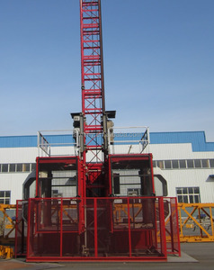 SC200/200 high quality double cages construction hoist / construction lifter / construction elevator warehouse