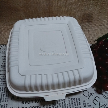 Biodegradable Tableware Plant Starch Bento Lunch Box Leakproof