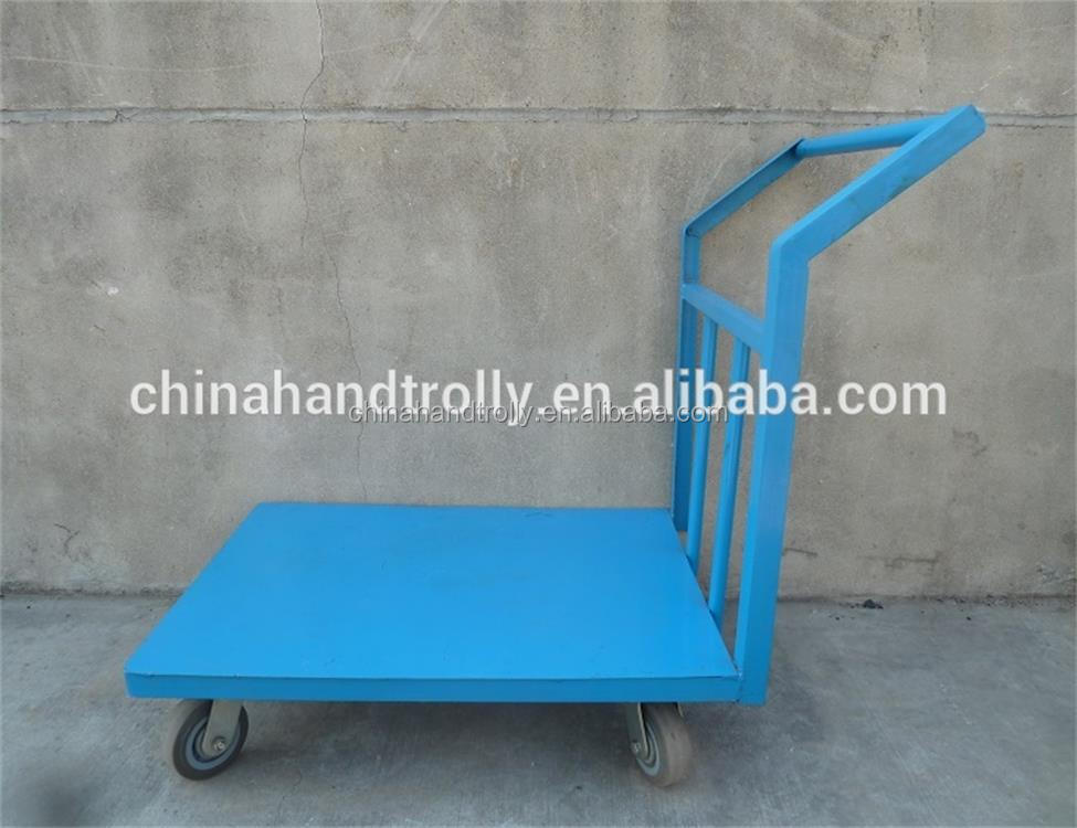 powder coated finish steel material multi cart 4 wheel hand wagon