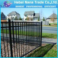 cheap decorative wrought iron fence / powder coat iron fence