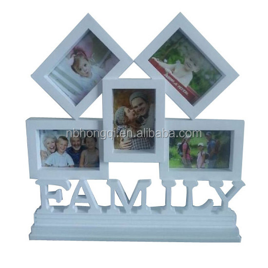 Two 6'' White House shape Put on Table Plastic Picture Frame