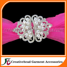 Bridal Bridesmaid Clear White Rhinestone Clasp Interlock Buckles Closure Hook DIY for Gown