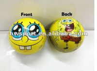 6.3cm pu foam full printing anti-stress ball