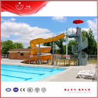 Popular swimming pool water slide,aqua park slide fiberglass