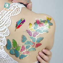 Creat your own brand, hot sale custom metallic temporary flash tattoo