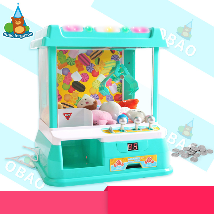 B/O candy grabber toy with music and light 2017 nwe style candy grabber machine Toy with USB plug