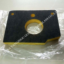 120kg/m3 different shape glass wool sealing part