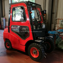 Top quality 1.5 ton 2.5 3.5 3 ton diesel forklift with cab and air conditioner