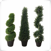 Best topiary trees outdoor spiral artificial cypress tree